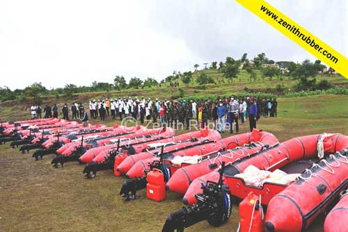 25 Inflatable Boats (Rescue Boats) delivered to the Disaster Management